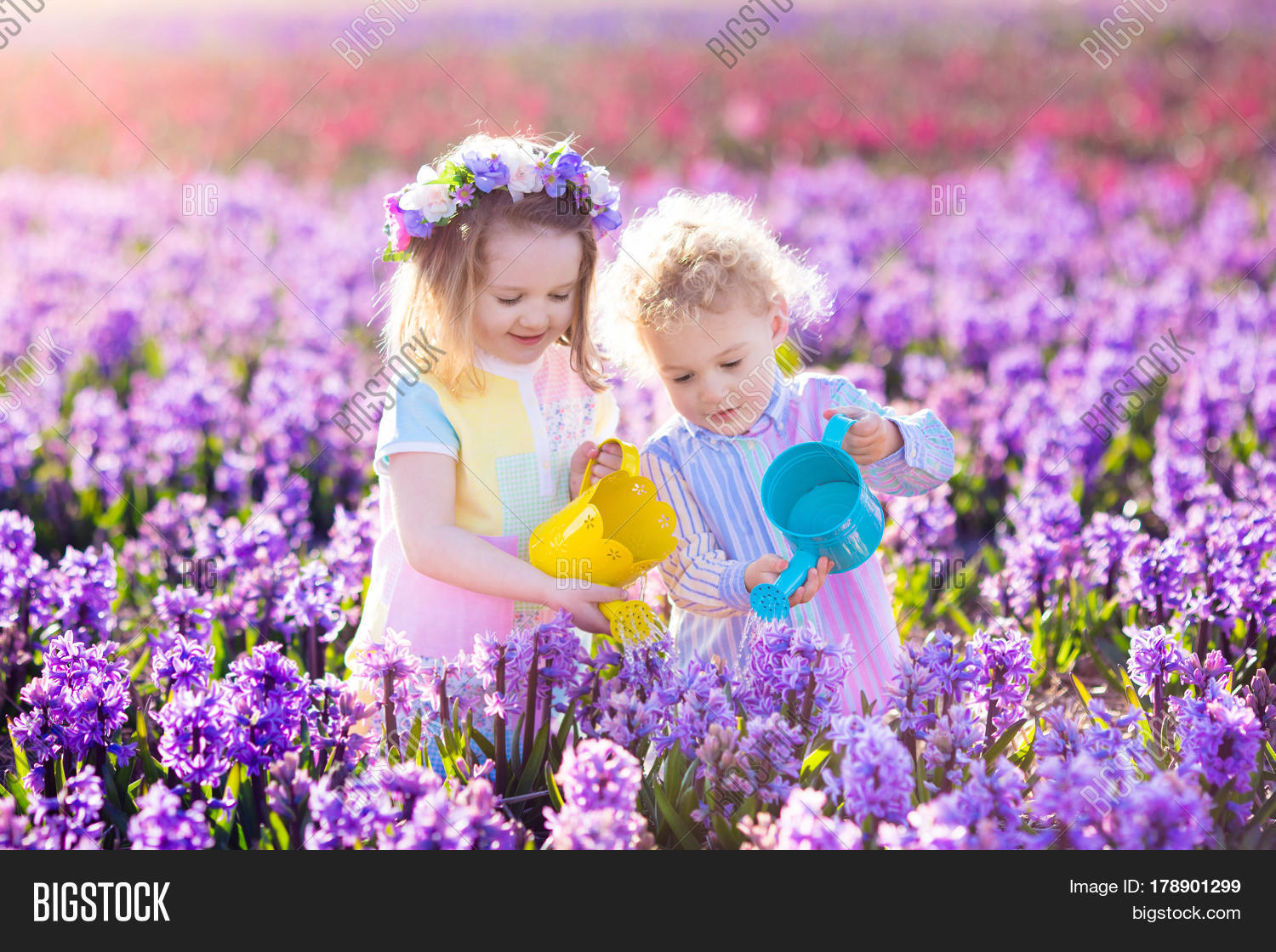 Children Planting Image Photo Free Trial Bigstock