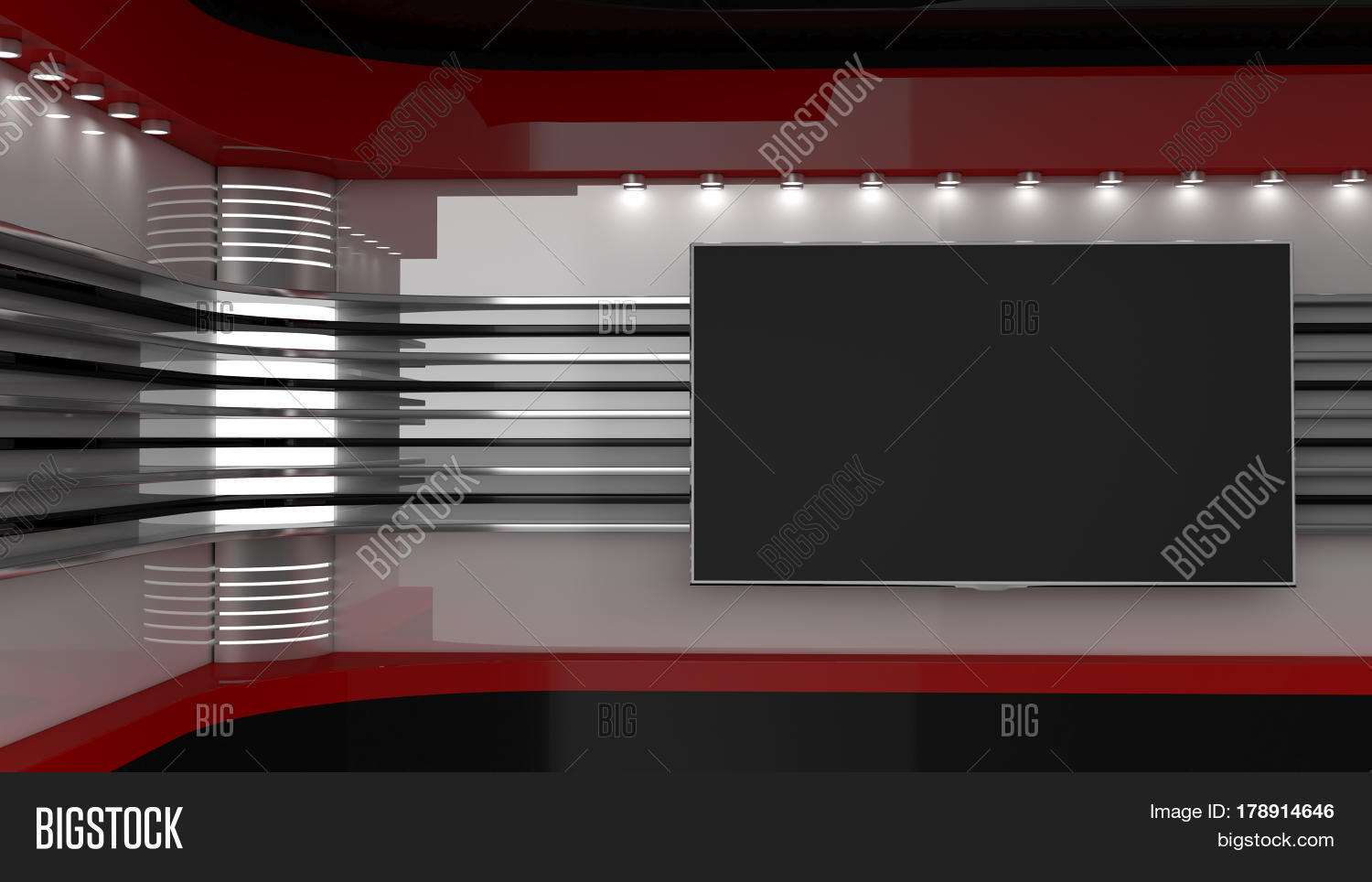 Tv Studio Backdrop For Shows On Wall News The