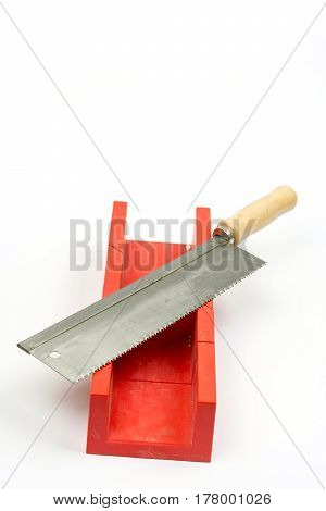 Hand Metal Saw Isolated Over White Background