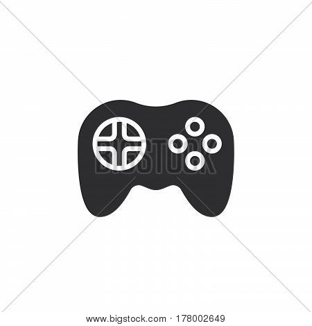 Video game symbol. Gamepad icon vector filled flat sign solid pictogram isolated on white. Logo illustration