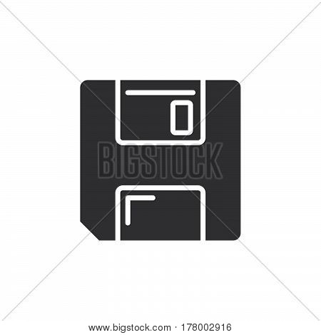 Save symbol. floppy disk icon vector filled flat sign solid pictogram isolated on white. Logo illustration