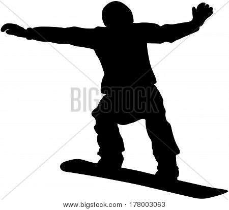 snowboard competition male snowboarder jump black silhouette