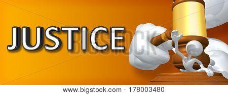Justice Legal Gavel Concept 3D Illustration
