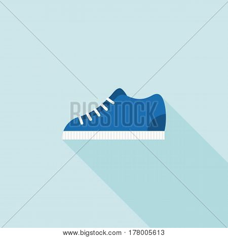 sneakers icon, flat design with long shadow