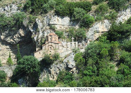 Berat, Albania - 5 July 2014: The chapel of St. Michele at Berat on Albania