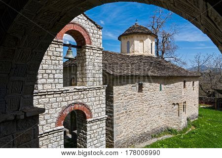Old monastery dedicated to Mary, mother of Jesus, in Western Macedonia, Greece