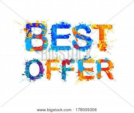 Best Offer. Vector Sign