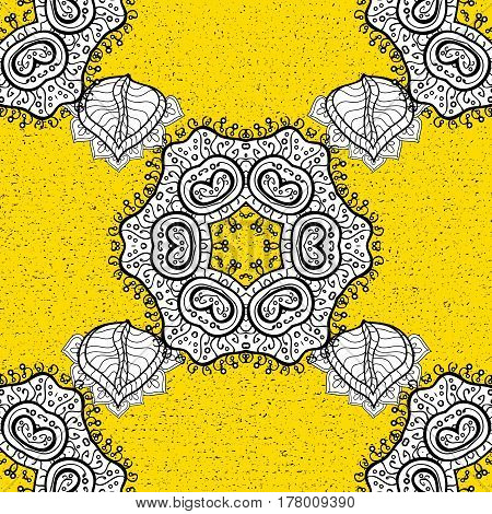 Traditional orient ornament. Classic vintage background. Classic vector yellow and golden pattern.