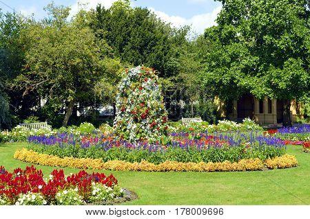 Flower beds in Jephson Gardens Leamington Spa Warwickshire