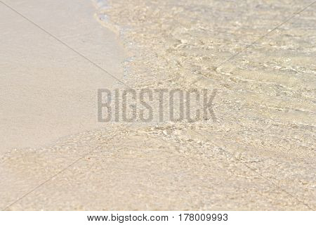 Summer concept. Sand beach and clear water