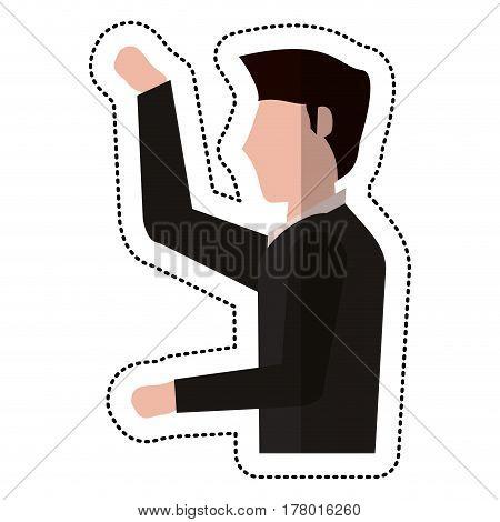 profile groom man wedding vector illustration eps 10