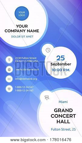Business graphics banner template, violet colorful vector design