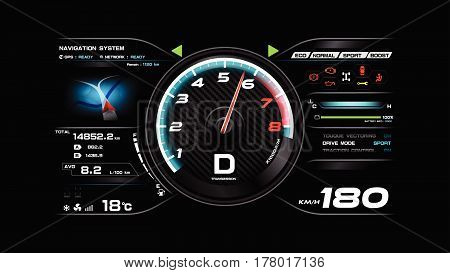 Car dash board vector illustration eps 10