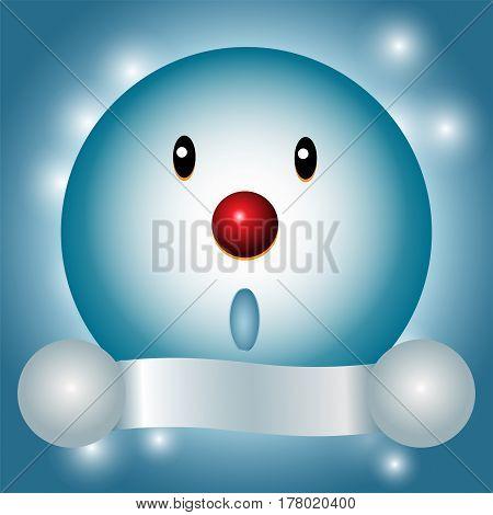 Snowman and Winter season background - vector design