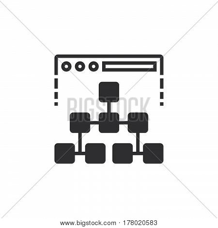 Site map icon vector filled flat sign solid pictogram isolated on white logo illustration