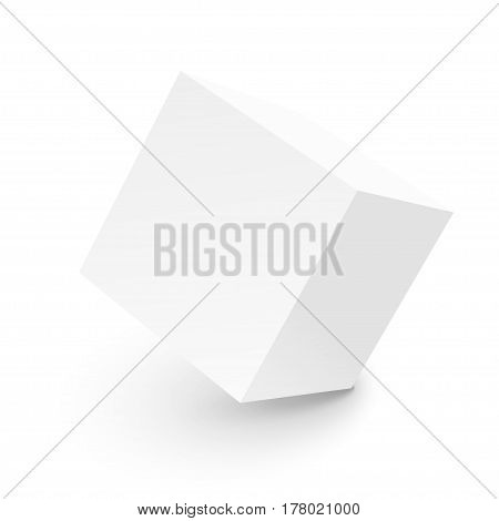 3D abstract colored cubes isolated on white background. Vector illustration