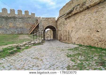 Inside of Akkerman fortress in belgorod Odessa Ukraine