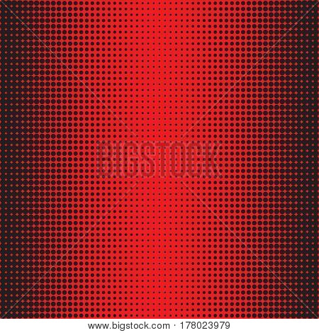 Halftone Dots. Black dots on rad Background. Halftone Texture. Halftone Dots. Halftone Effect. Vector. Background halftone. Comic book background