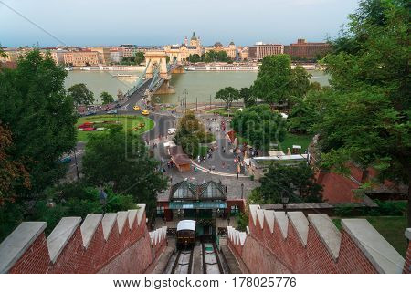 The Funicular in Budapest is an easy way to access Buda Castle
