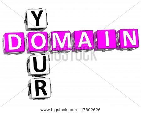 3D Domain Your Crossword