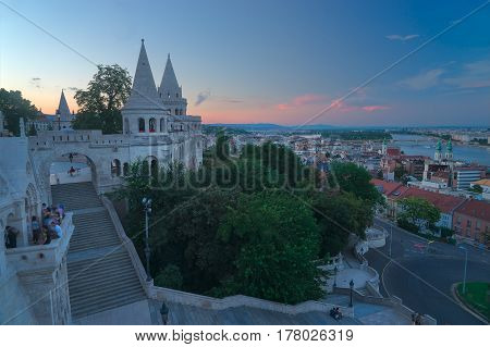 The Fisherman's Bastion is famed for it's art nouvea architecture