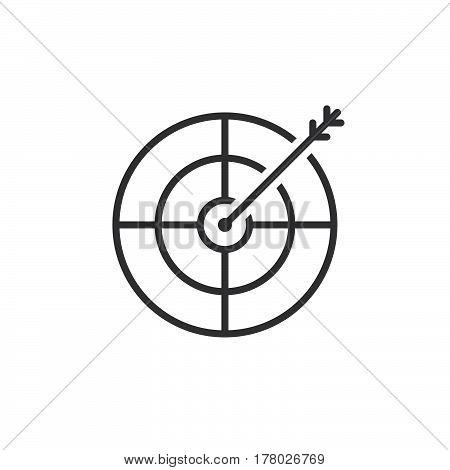 Target goal line icon outline vector sign linear pictogram isolated on white. logo illustration