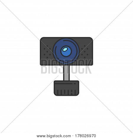 Isolated vector Webcam Icon. Web camera flat icon for infographic website or app. Chat sign.