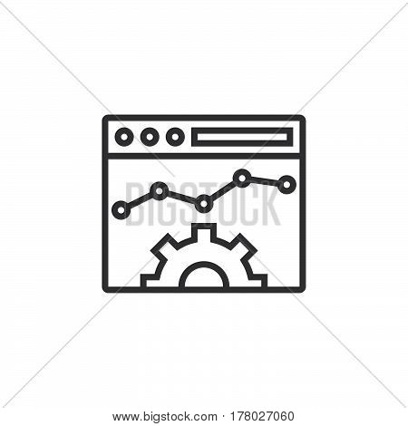 Website Optimisation line icon outline vector sign linear pictogram isolated on white. logo illustration