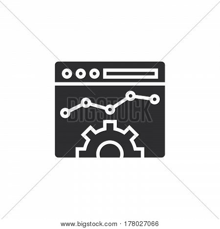 Website Optimisation icon vector filled flat sign solid pictogram isolated on white logo illustration