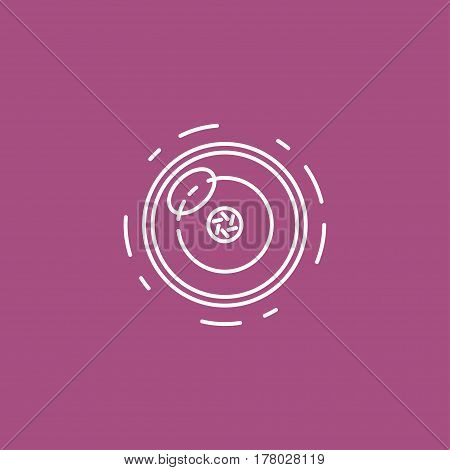 Camera Lens Vector Line Icon For Infographic, Website Or App. Webcam On Laptop. Chat Sign.