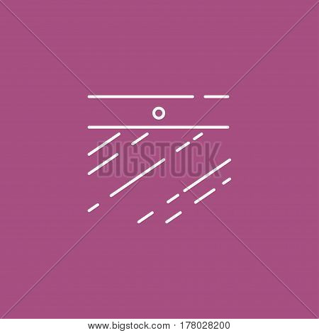 Webcam On Laptop Vector Icon. A Linear Design Element For The Web And App. Modern Chat Sign