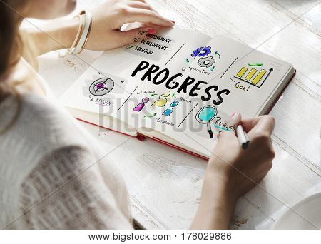 Progress business plan sketch diagram