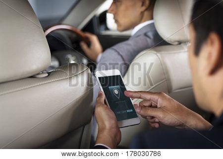 Businessman Mobile Navigation GPS Direction