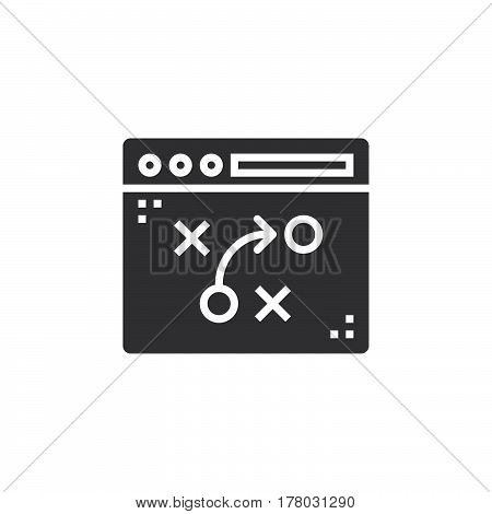 tactics strategy planning icon vector filled flat sign solid pictogram isolated on white logo illustration