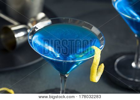 Refreshing Blue Martini Cocktail