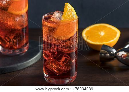 Refreshing Cold Americano Cocktail