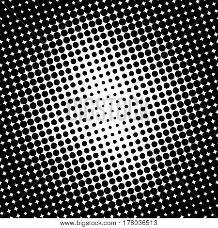 Background Halftone Circle Vector