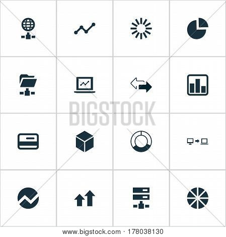 Vector Illustration Set Of Simple Information Icons. Elements Growth, Plastic Money, Cycle Chart And Other Synonyms Finance, Two And Diagram.