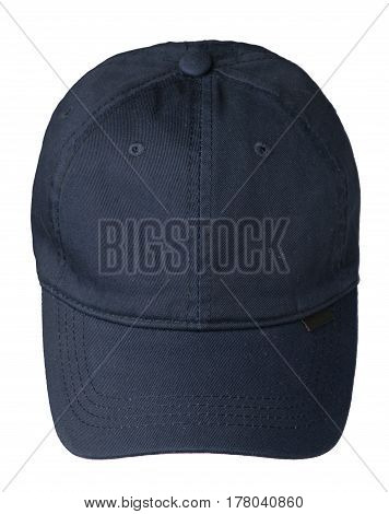 Hat Isolated On White Background. Hat With A Visor.blue Hat
