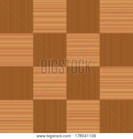 Checkerboard pattern parquet - vector illustration of a popular flooring sample - seamless extension of this wooden segment in all directions possible.