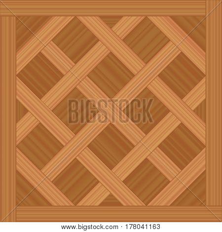 Versailles parquet - vector illustration of an ancient wooden flooring pattern.