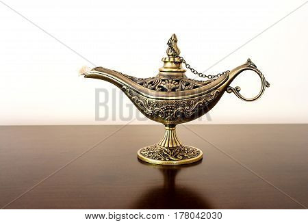 Alladin's Oriental Eastern Candle Lamp With A Djinn Inside