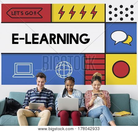 E-learning Education Internet Study Concept