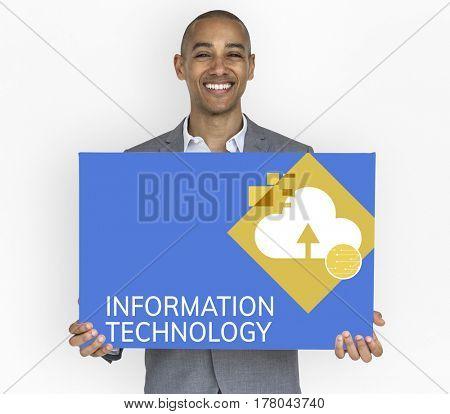 Information Technology Cloud Storage Concept