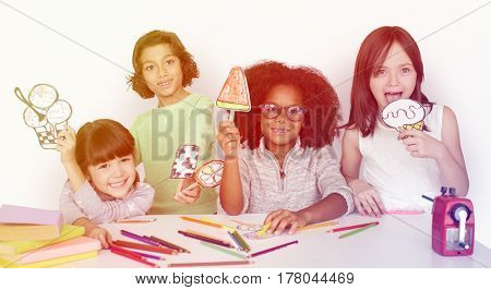 Young kids participating in classroom activities