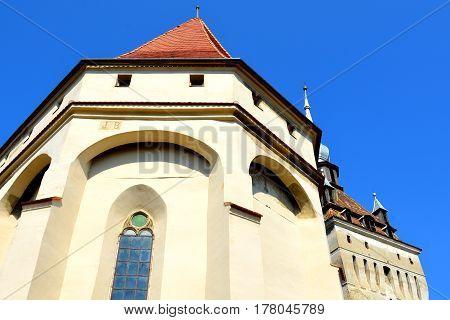 Medieval fortified saxon church Saschiz Keisd, Transylvania. The fortified church is a church in Keisd Wurmloch in the Transylvania region of Romania. It was built by the ethnic German Transylvanian Saxon community