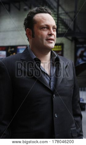 NEW YORK-JAN 11: Actor Vince Vaughn arrives for the 'Late Show With David Letterman' taping at the Ed Sullivan Theater on January 11, 2011 in New York City.