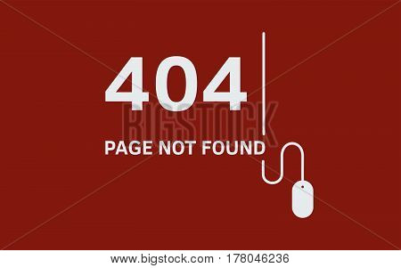 Page with 404 error. Page not found. Vector illustration.