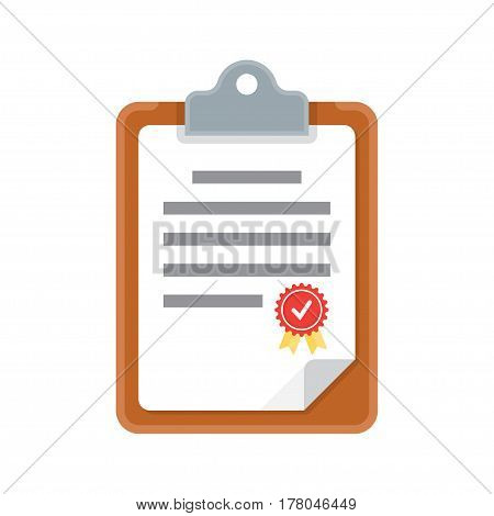 clipboard document icon. vector illustration isolated white background