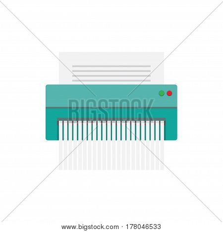 paper Shredder Icon vector illustration. Flat style